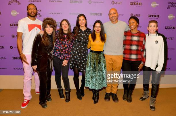 Anyi Malik Samatha Schlaiffer Shannon Gibson Jessica Sanders Kathreen Shavari Chuck Neal Khaliah Neal and Amy Emmerich of Embrace attend the 2020...