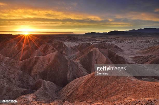 anza-borrego state park at sunrise, california, usa - anza borrego desert state park stock pictures, royalty-free photos & images