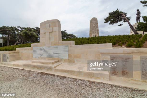 anzac cemetery at the anzac cove - anzac cove stock pictures, royalty-free photos & images