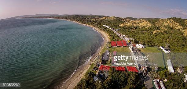 Anzac Cove is seen on Gallipoli Peninsula in Canakkale Turkey on April 20 2016 Ceremony marking the 101st anniversary of the Canakkale Land Battles...