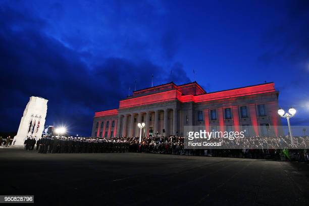 Anzac Day commemorations at Auckland War Memorial Museum on April 25 2018 in Auckland New Zealand In 1916 the first Anzac Day commemorations were...
