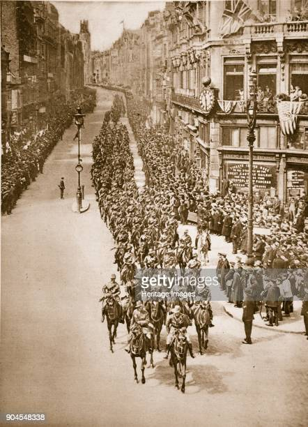 Anzac Day in London April 25th 1919 Australian Cavalry marching down Fleet Street Anzac Day marks the anniversary of the first major military action...