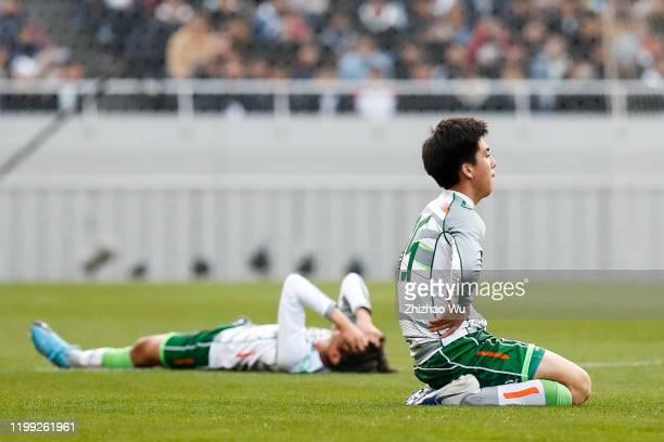 Anzai Soma of Aomori Yamada show his dejection after the 98th All Japan High School Soccer Tournament final match between Aomori Yamada and Shizuoka...
