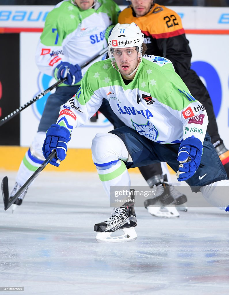 Anze Kopitar of Team Slovenia during the game between Germany and Slovenia on april 29, 2015 in Berlin, Germany.