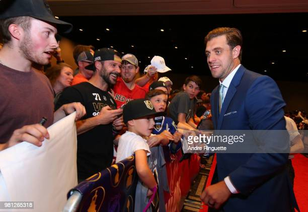 Anze Kopitar of the Los Angeles Kings arrives at the 2018 NHL Awards presented by Hulu at the Hard Rock Hotel Casino on June 20 2018 in Las Vegas...
