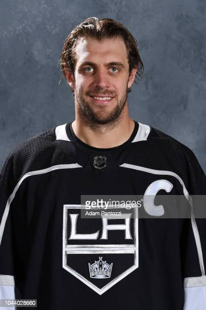 Anze Kopitar of the Los Angeles Kings poses for his official headshot for the 20182019 season on September 13 2018 at the Toyota Sports Center in El...