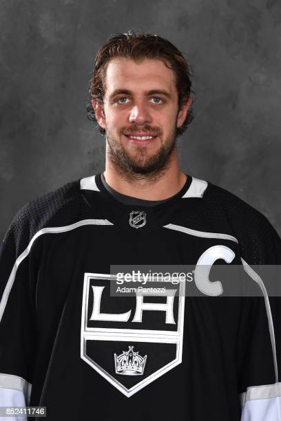 Anze Kopitar of the Los Angeles Kings poses for his official headshot for the 20172018 season on September 12 2017 at the Toyota Sports Center in El...