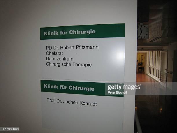 AnzeigeTafel HeliosKrankenhaus Klinik für Chirurgie Zehlendorf Berlin Deutschland Europa Reise