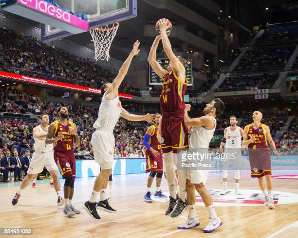 Anzejs Pasecniks during Real Madrid victory over Herbalife Gran Canaria in Liga Endesa regular season game celebrated in Madrid at Wizink Center...