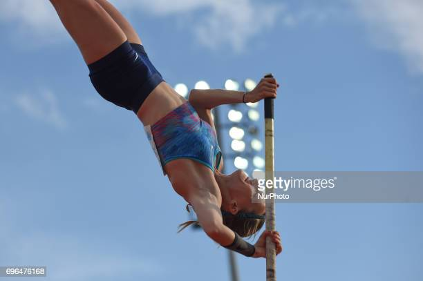 Anzhelika Sidorova compete in the pole vault during the Oslo IAAF Diamond League 2017 at the Bislett Stadium on June 15 2017 in Oslo Norway
