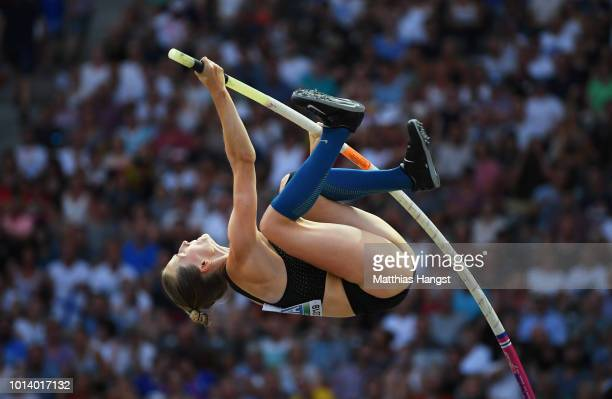 Anzhelika Sidorova of Authorised Neutral Athlete competes in the Women's Pole Vault Final during day three of the 24th European Athletics...