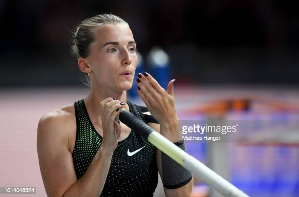 Anzhelika Sidorova of Authorised Neutral Athlete prepares to compete in the Women's Pole Vault Final during day three of the 24th European Athletics...