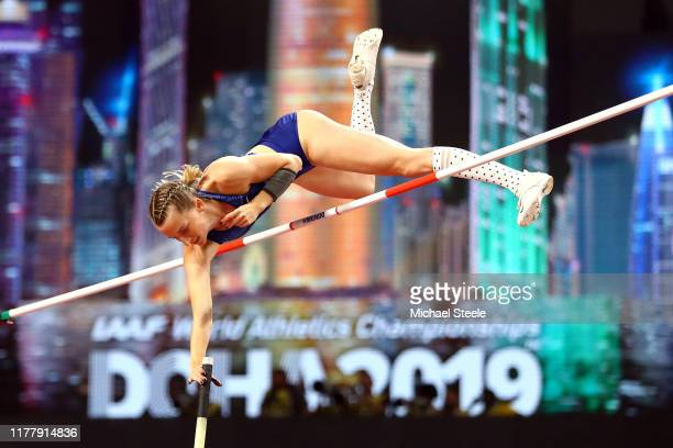 Anzhelika Sidorova of the Authorised Neutral Athletes competes in the Women's Pole Vault final during day three of 17th IAAF World Athletics...