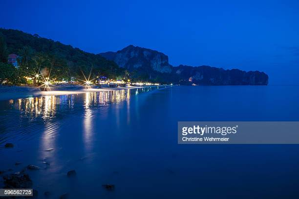 ao nang at night - christine wehrmeier stock photos and pictures