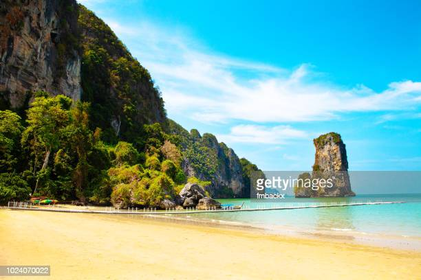 Ao Nang Beach Krabi View on Beach and Mountain Range