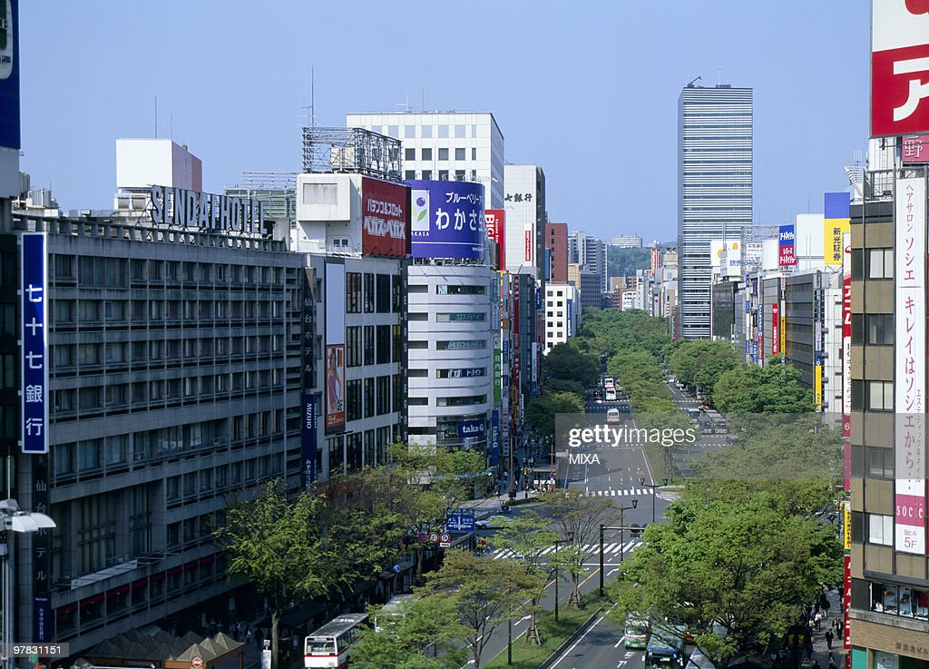Aoba Street, Sendai, Miyagi, Japan : Stock Photo