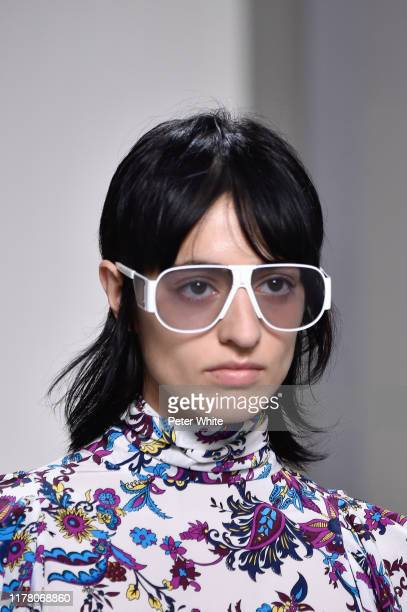 Aoife Lou, fashion detail, walks the runway during the Givenchy Womenswear Spring/Summer 2020 show as part of Paris Fashion Week on September 29,...