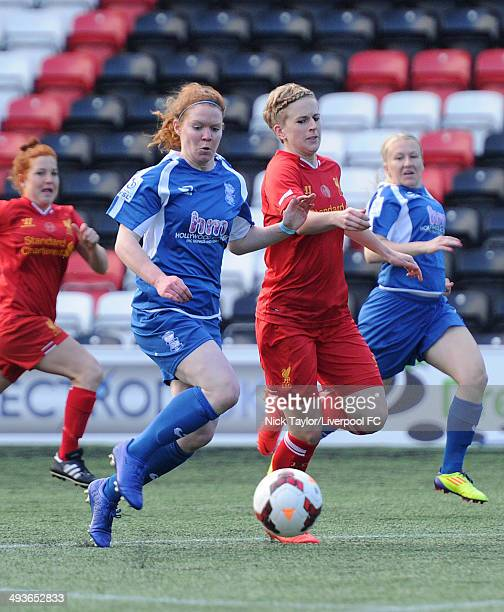 Aoife Mannion of Birmingham City Ladies and Natasha Dowie of Liverpool Ladies in action during the FAWSL fixture between Liverpool Ladies and...
