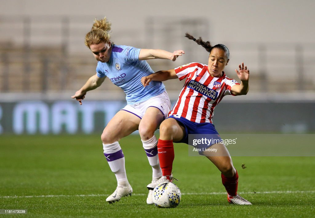 Manchester City Women v Atletico Madrid Femenino - UEFA Women's Champions League Round of 16: First Leg : News Photo