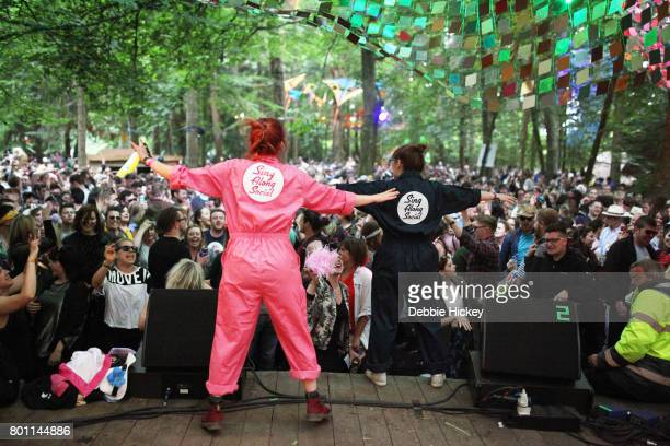 Aoife McElwain and Clementine Holmes presents Sing Along Social at The Woodlands Stage at Body Soul Festival at Ballinlough Castle on June 25 2017 in...