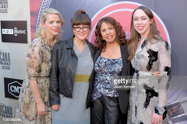 Aoife O'Donovan Sara Watkins of I'm With Her Candi Staton and Sarah Jarosz of I'm With Her attend the 2018 Americana Music Honors and Awards at Ryman...