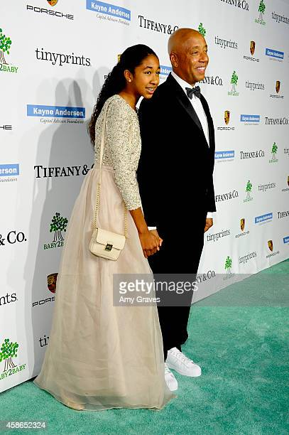 Aoki Lee Simmons and Russell Simmons attend the 2014 Baby2Baby Gala presented by Tiffany Co on November 8 2014 in Culver City California