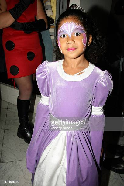 Aoki Lee Simmons during Baby Phat Kids Halloween Party at Phat Farm Store in New York City New York United States