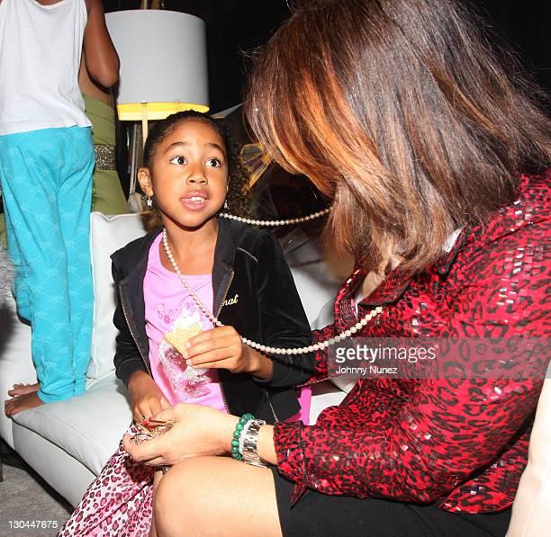 Aoki Lee Simmons Joanne Perkins attend Baby Phat Spring 2009 at Roseland Ballroom on September 12 2008 in New York City