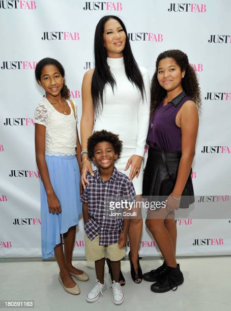 Aoki Lee Simmons Kenzo Lee Simmons Kimora Lee Simmons and Ming Lee Simmons attend JustFabcom Los Angeles flagship store debut at Glendale Galleria on...