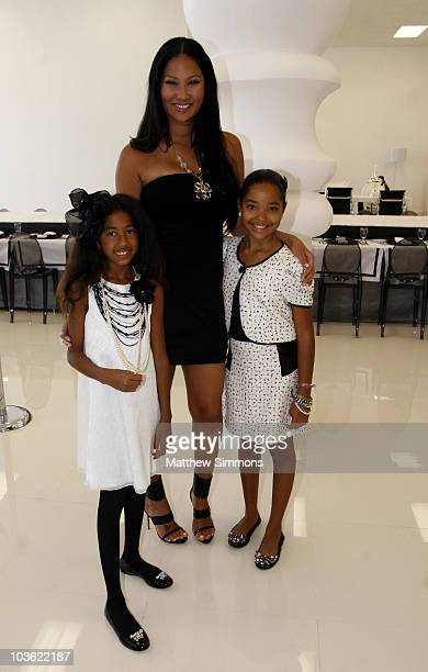 Aoki Lee Simmons Kimora Lee Simmons and Ming Lee Simmons attend Aoki Lee Simmons' Birthday Fashion show at Modani on August 24 2010 in West Hollywood...