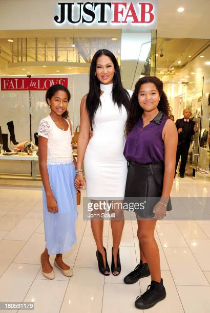 Aoki Lee Simmons Kimora Lee Simmons and Ming Lee Simmons attend JustFabcom Los Angeles flagship store debut at Glendale Galleria on September 14 2013...