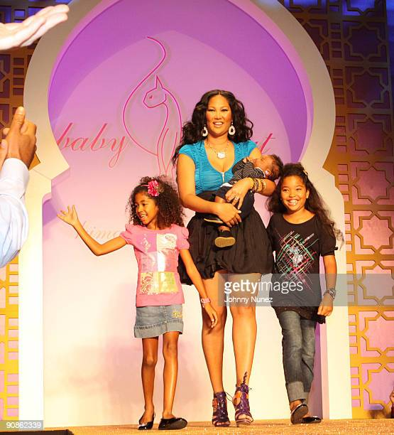 Aoki Lee Simmons Kimora Lee Simmons and Ming Lee Simmons on the runway during the Baby Phat KLS Collection Spring 2010 during MercedesBenz Fashion...