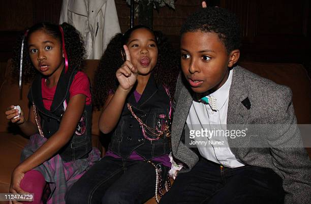 Aoki Lee Simmons Ming Lee and Daniel Diggy Simmons attend Baby Phat KLS Collection Fall 2009 during MercedesBenz Fashion Week at Gotham Hall on...