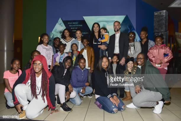 Aoki Lee Simmons Ming Lee Simmons Kenzo Lee Hounsou Kimora Lee Simmons Wolf Lee Leissner and Tim Leissner Host Special Screening Of A Wrinkle In Time...