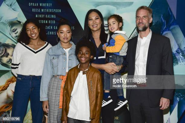 Aoki Lee Simmons Ming Lee Simmons Wolf Leee Leissner Kimora Lee Simmons and Tim Leissner Host Special Screening Of 'A Wrinkle In Time' For...