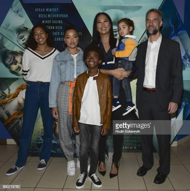 Aoki Lee Simmons Ming Lee Simmons Kenzo Lee Hounsou Wolf Lee Leissner Kimora Lee Simmons and Tim Leissner Host Special Screening Of A Wrinkle In Time...