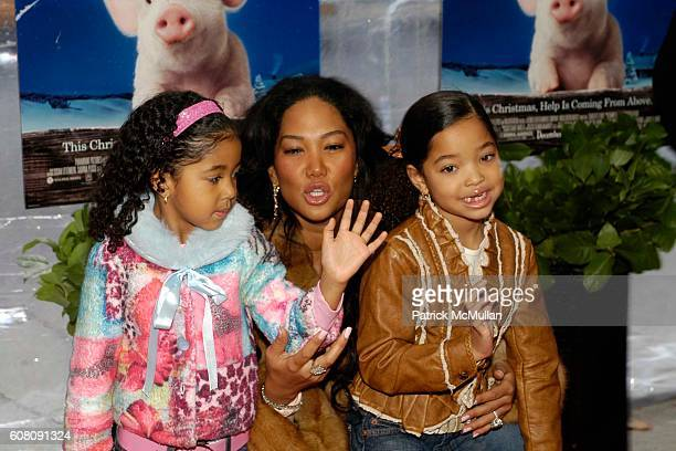 Aoki Lee SimmonsKimora Lee Simmons Ming Lee Simmons attend A Special Screening of Paramount Pictures' and Walden Media's CHARLOTTE'S WEB at Clearview...