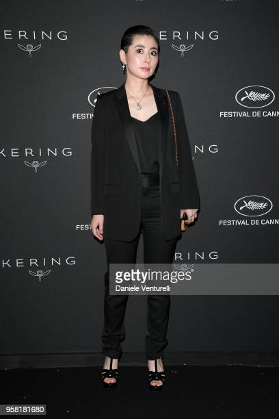 Aoko Matsuda attends the Women in Motion Awards Dinner presented by Kering and the 71th Cannes Film Festival at Place de la Castre on May 13 2018 in...