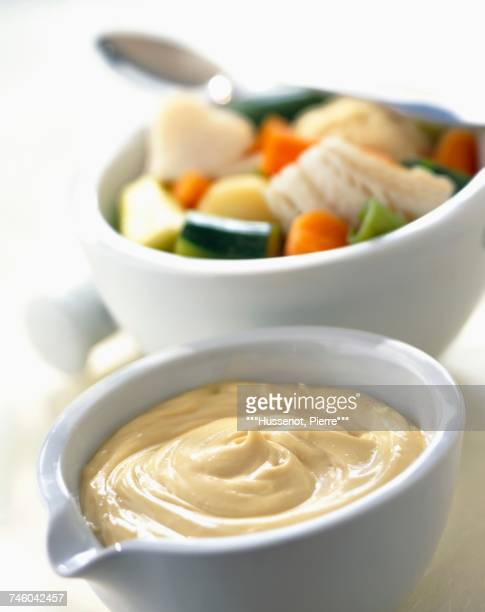 Aoli garlic and olive oil sauce