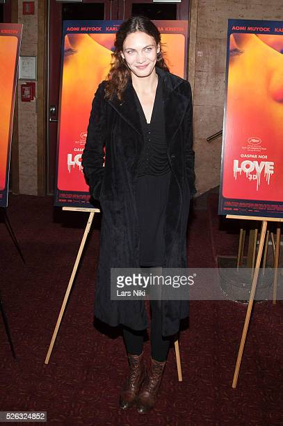 Aomi Muyock attends the 'Love' New York Special Screening at the Village East Cinema in New York City �� LAN