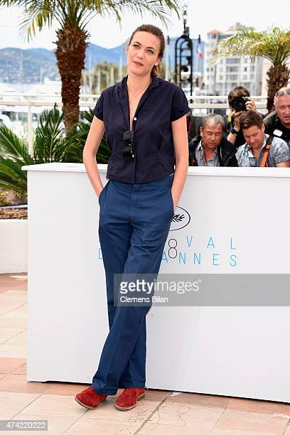 Aomi Muyock attends the Love photocall during the 68th annual Cannes Film Festival on May 21 2015 in Cannes France