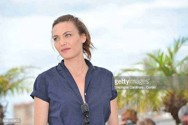 Aomi Muyock attends the 'Love' Photocall during the 68th Cannes Film Festival on May 21 2015 in Cannes France