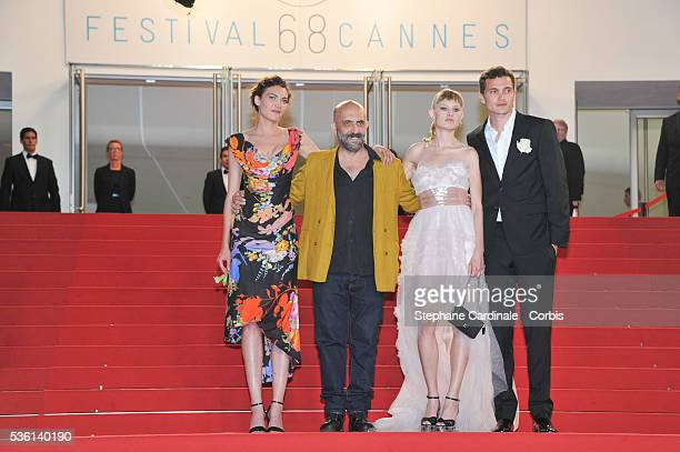 Aomi Muyock Garpar Noe Karl Glusman and Klara Kristin attends at the 'Love' Premiere during the 68th Cannes Film Festival