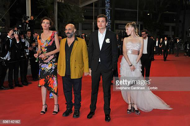 Aomi Muyock Garpar Noe Klara Kristin and Karl Glusman attends at the 'Love' Premiere during the 68th Cannes Film Festival