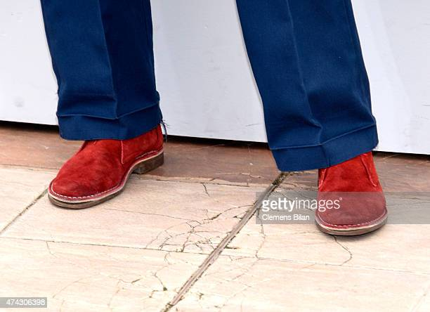 Aomi Muyock shoe detail attends the Love photocall during the 68th annual Cannes Film Festival on May 21 2015 in Cannes France