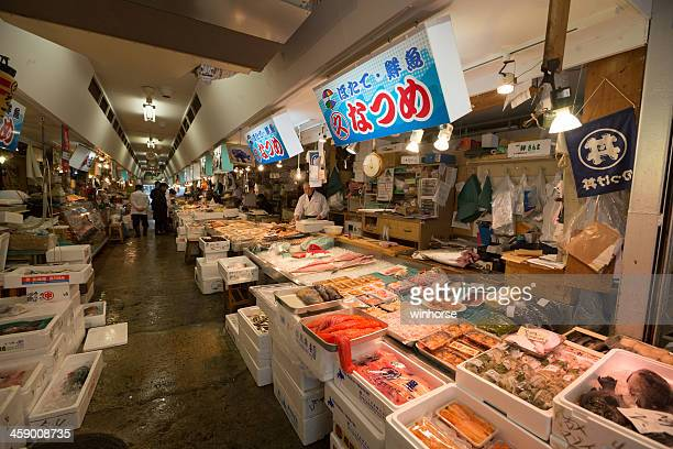 aomori fish market in japan - aomori prefecture stock pictures, royalty-free photos & images