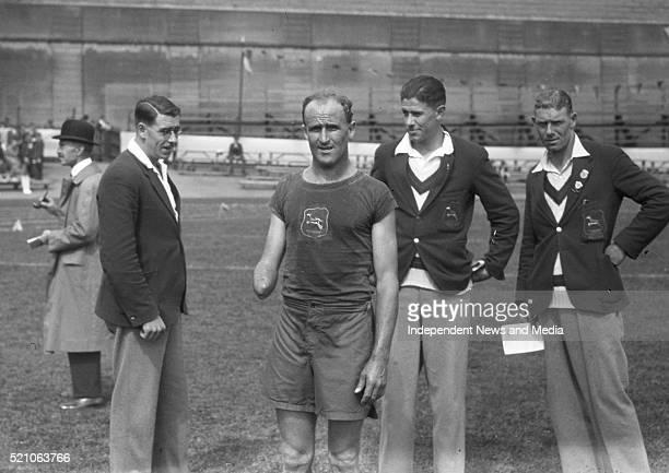 Aonach Tailteann Athletics - Croke Park. Athletes on field. Augusr 1928. M. Steyler who was second in the Marathon Race from Navan to Dublin .