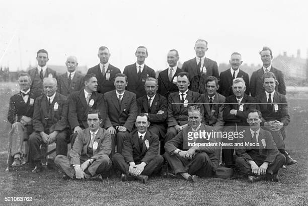 Aonach Tailteann Athletics - Croke Park. Large group of men. 1928. .