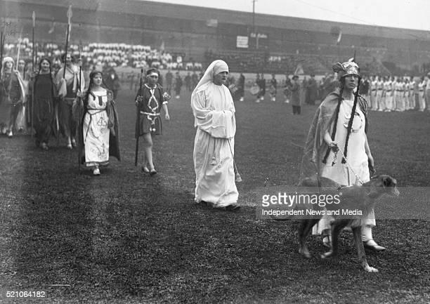 Aonach Tailteann Athletics - Croke Park. Pageant procession. 1928. .