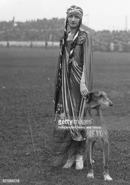 "Aonach Tailteann Athletics - Croke Park. Pageant procession. On left ""Queen Tailte"" Miss N. Rock 1928. ."